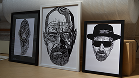 Heisenberg, Breaking Bad custom picture framed